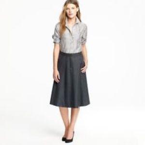 J. Crew Trenton 100% Wool A-Line Skirt Size 8